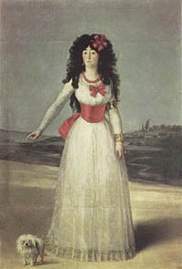 Francisco de Goya la Duquesa de Alba and Maltese 1795